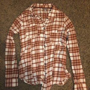 BKE Buckle Fall Flannel Plaid Button Up Soft
